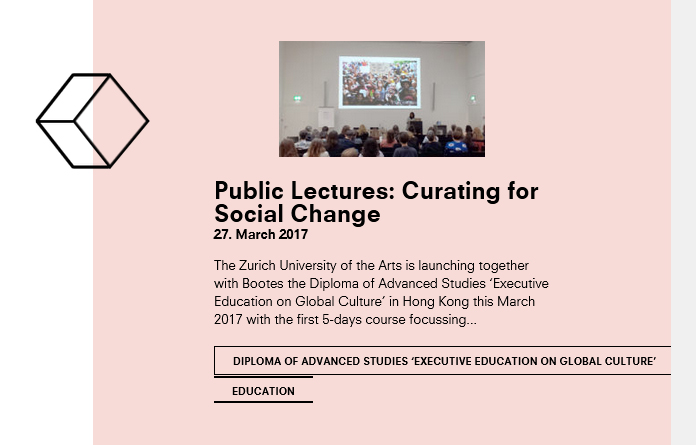 Public Lectures: Curating for Social Change